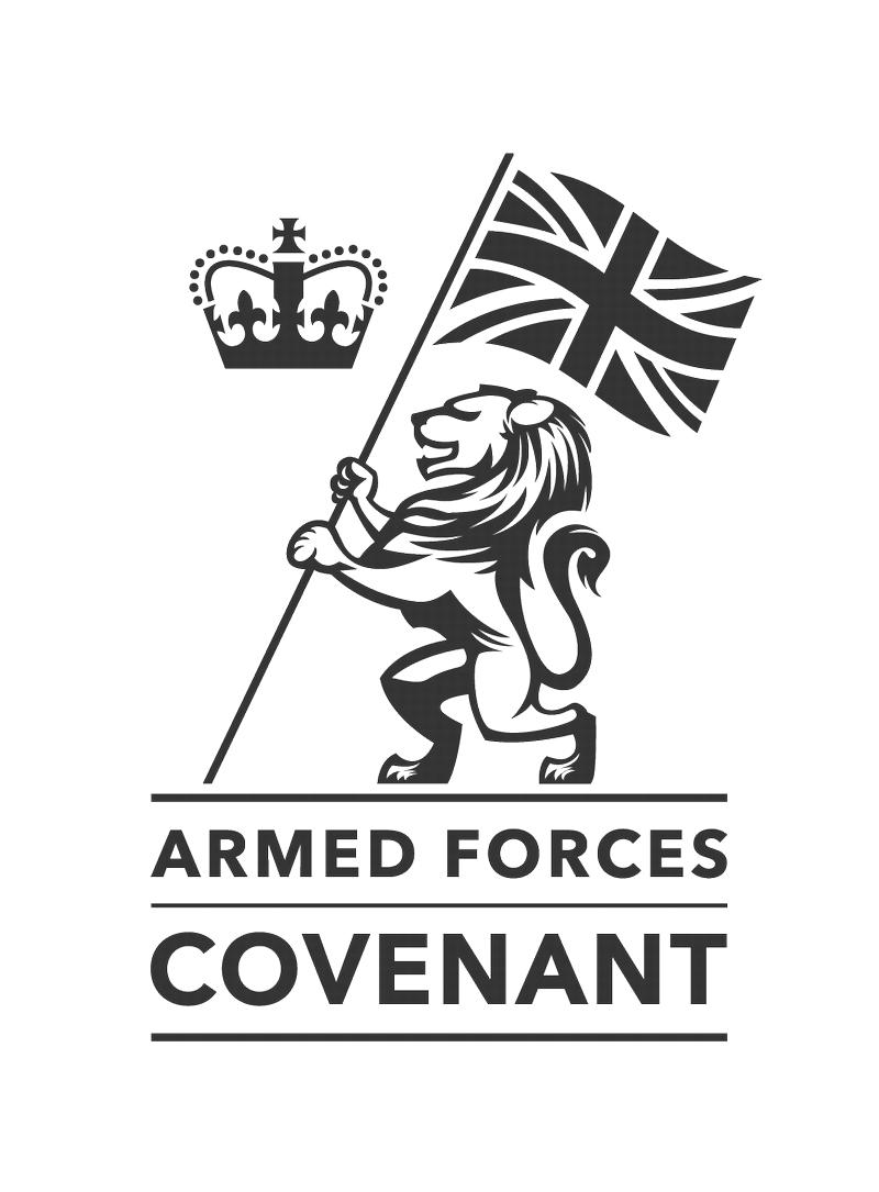 Logo of the Armed Forces Covenant with link to their website