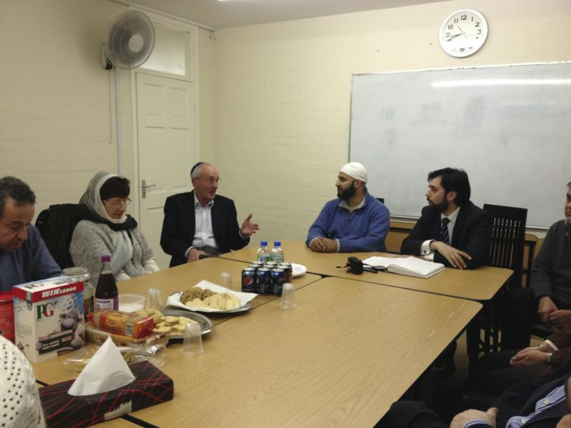 Snacks in Cheadle Mosque boardroom