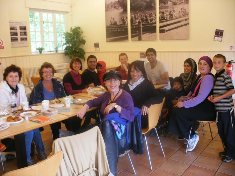 Photo of fifth interfaith picnic held indoors on 17 July 2011