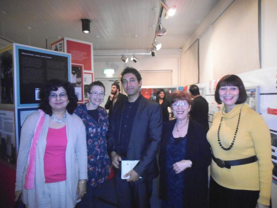 Group photo at literary evening