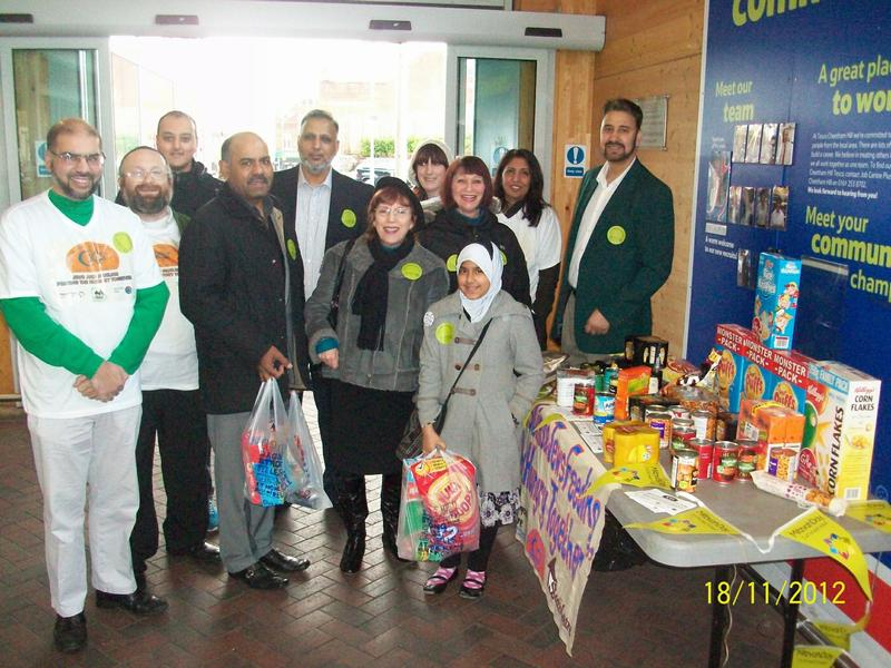 Muslim Jewish Forum food collection project image 2