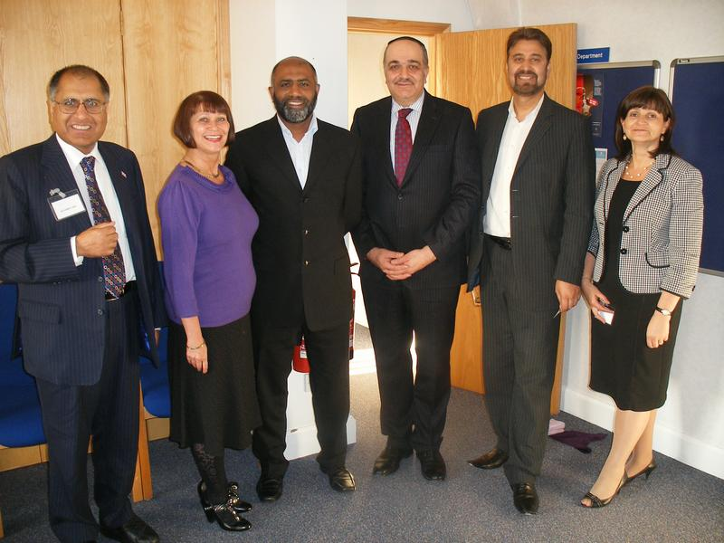 Photo of speakers and organisers at the event